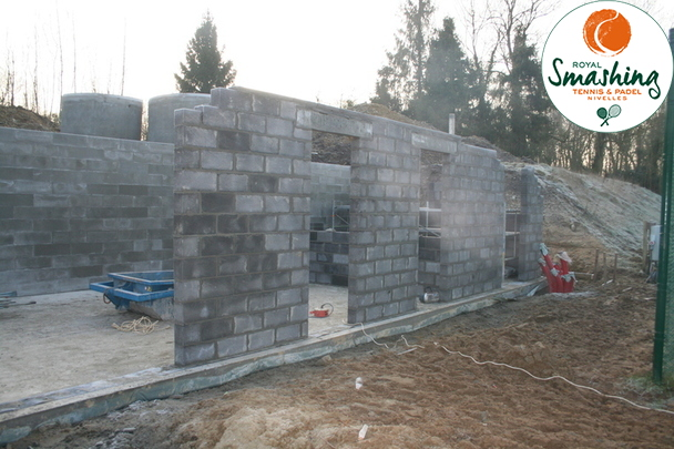 Royal Smashing Club Nivellois - Travaux nouveau Clubhouse